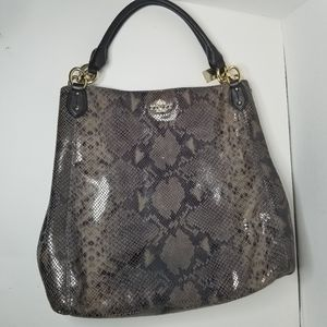 Coach F33443 Graphite exotic snakeskin larg